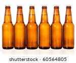 stock image of six dark beer... | Shutterstock . vector #60564805