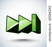 vector 3d icon   next | Shutterstock .eps vector #60566242