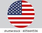 usa flag | Shutterstock .eps vector #605664536