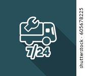 steady truck assistance center  ... | Shutterstock .eps vector #605678225