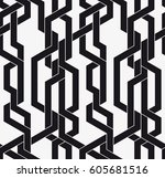 vector seamless pattern.... | Shutterstock .eps vector #605681516
