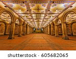bethesda terrace at central park | Shutterstock . vector #605682065
