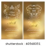 save the date. invitation card | Shutterstock .eps vector #60568351