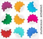 blank stars stickers  vector  | Shutterstock .eps vector #60568465
