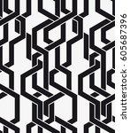 vector seamless pattern.... | Shutterstock .eps vector #605687396