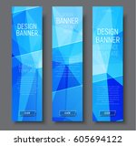 design vertical banners with... | Shutterstock .eps vector #605694122