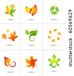 Nature Icons Autumn Leafs