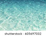shining blue water ripple... | Shutterstock . vector #605697032