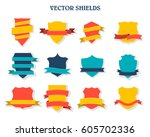 labels and ribbon retro style... | Shutterstock .eps vector #605702336