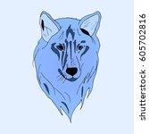wolf. | Shutterstock .eps vector #605702816