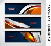 abstract banner design... | Shutterstock .eps vector #605703062