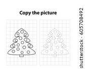christmas tree  copy the... | Shutterstock .eps vector #605708492