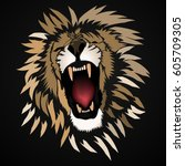 Abstract Roaring  Lion  ...
