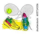 vector illustration of drawing...   Shutterstock .eps vector #605714336