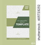 flyer concept brochure template ... | Shutterstock .eps vector #605723252
