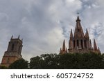san miguel de allende  mexico ... | Shutterstock . vector #605724752