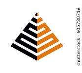 abstract pyramid logo template | Shutterstock .eps vector #605730716