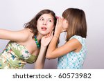 two happy young girlfriends... | Shutterstock . vector #60573982