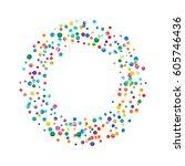 dense watercolor confetti on... | Shutterstock . vector #605746436
