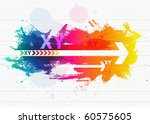 contemporary art abstract... | Shutterstock .eps vector #60575605
