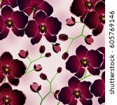 floral vector illustration of... | Shutterstock .eps vector #605769146