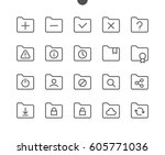 folder ui pixel perfect well... | Shutterstock .eps vector #605771036