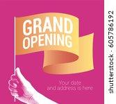 grand opening vector... | Shutterstock .eps vector #605786192