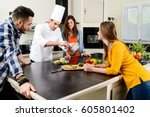professional personal chef cook ... | Shutterstock . vector #605801402
