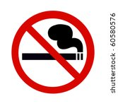 symbol of no smoking zone sign... | Shutterstock . vector #60580576