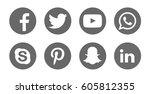 valencia  spain   march 20 ...   Shutterstock . vector #605812355