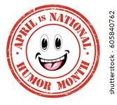 national humor month grunge...   Shutterstock .eps vector #605840762