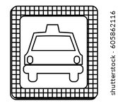 figure border taxi front car... | Shutterstock .eps vector #605862116