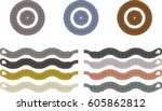 braided leather accessories... | Shutterstock .eps vector #605862812