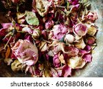 Dried Rose Petals In  Bowl Wit...