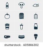 vector illustration of 12... | Shutterstock .eps vector #605886302