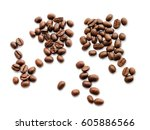 coffee beans isolated.  | Shutterstock . vector #605886566