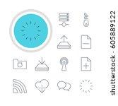 vector illustration of 12... | Shutterstock .eps vector #605889122