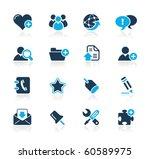 web blog   internet icons   ... | Shutterstock .eps vector #60589975