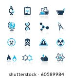 science web icons    azure... | Shutterstock .eps vector #60589984