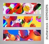 abstract vector raindrop card | Shutterstock .eps vector #605903096