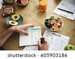 natural health fruit drinks... | Shutterstock . vector #605903186