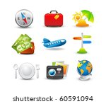 travel icon set. easy to edit | Shutterstock .eps vector #60591094