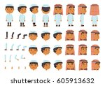 arabic boys character creation... | Shutterstock .eps vector #605913632