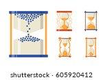 sandglass icon time flat design ...   Shutterstock .eps vector #605920412
