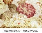 Vintage Floral Fabric Pattern...