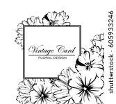 romantic invitation. wedding ... | Shutterstock .eps vector #605933246