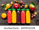 summer fresh drink in plastic... | Shutterstock . vector #605942228
