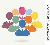 illustration of crowd of... | Shutterstock .eps vector #605948225