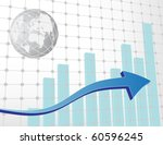 business chart with arrows   Shutterstock .eps vector #60596245
