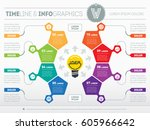business concept with 8 options ... | Shutterstock .eps vector #605966642